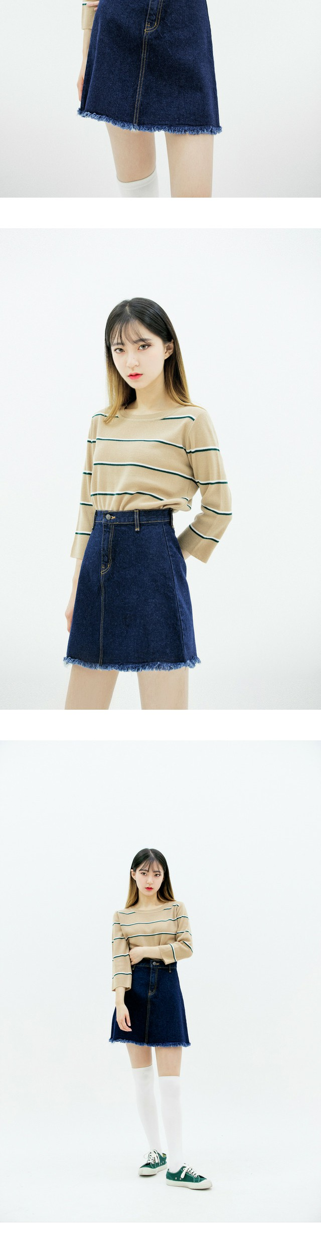 Three line knit