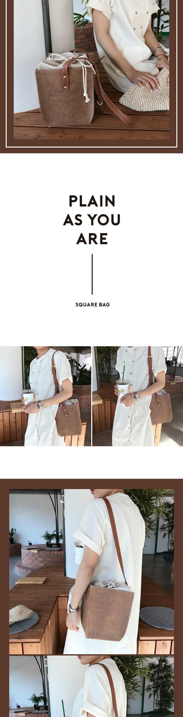 "MA-Cube ""MY ADORABLE BAG"" square bucket bag"