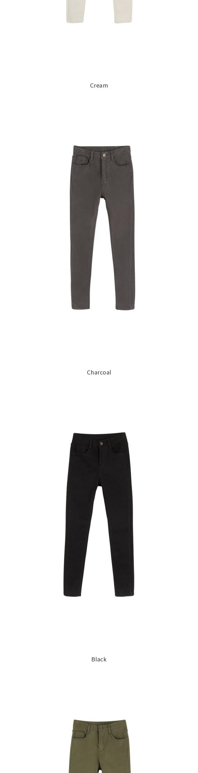 1172 brushed high waist pants
