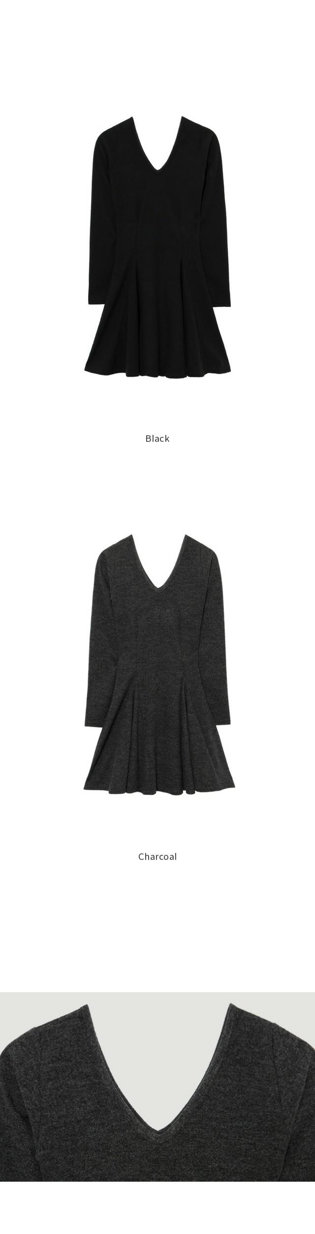 Linda V Brushed Dress