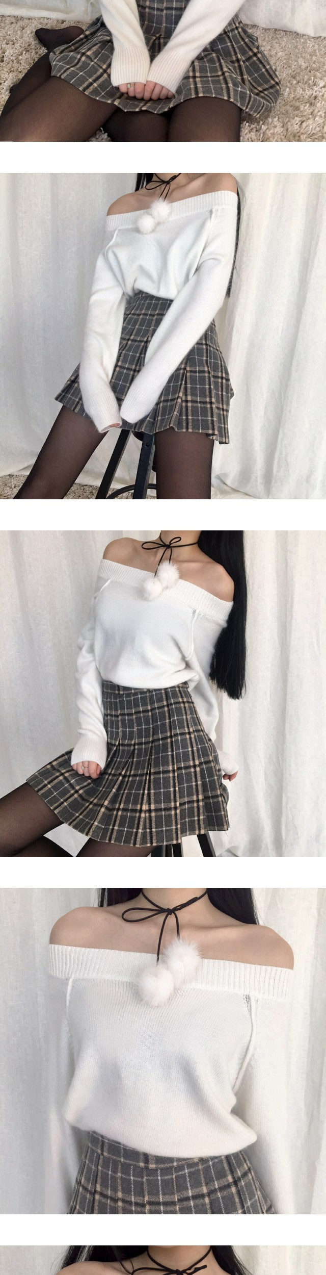 Ellie Check Tennis Skirt
