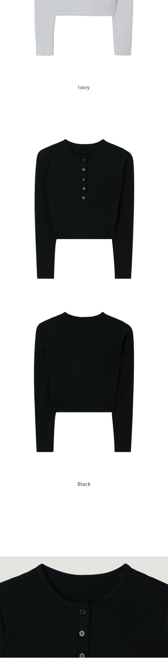 Half Button Clop T-Shirt