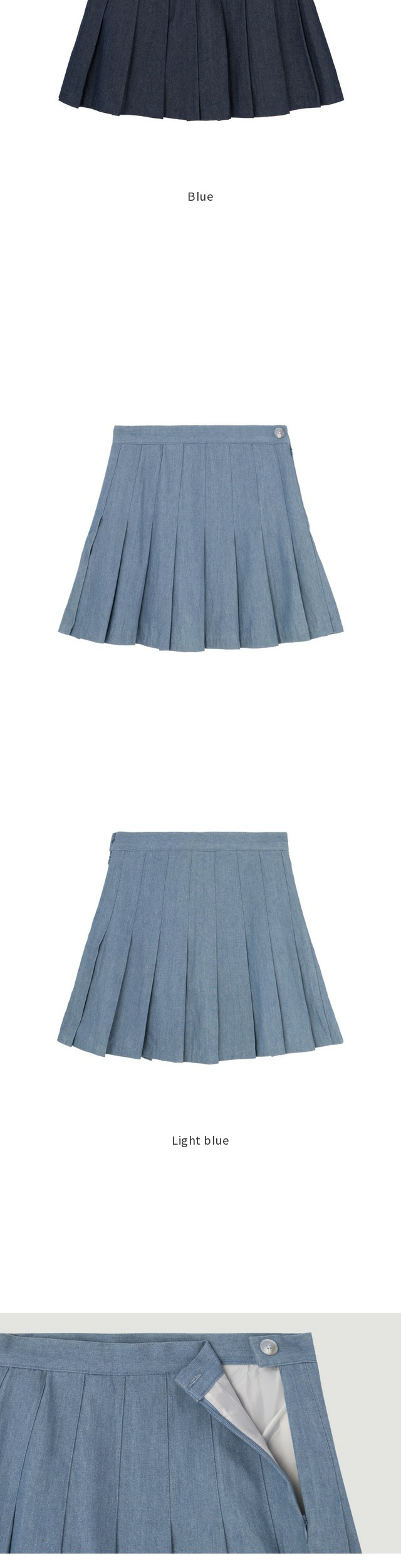 Rubber denim tennis skirt