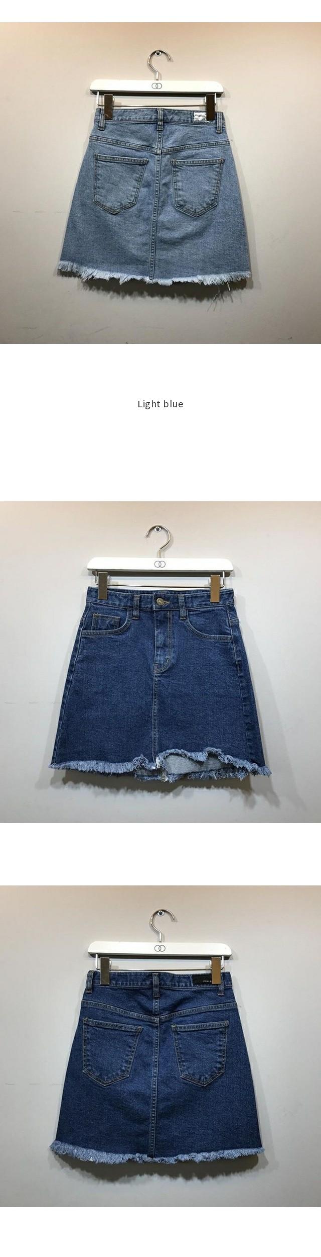 Age denim skirt