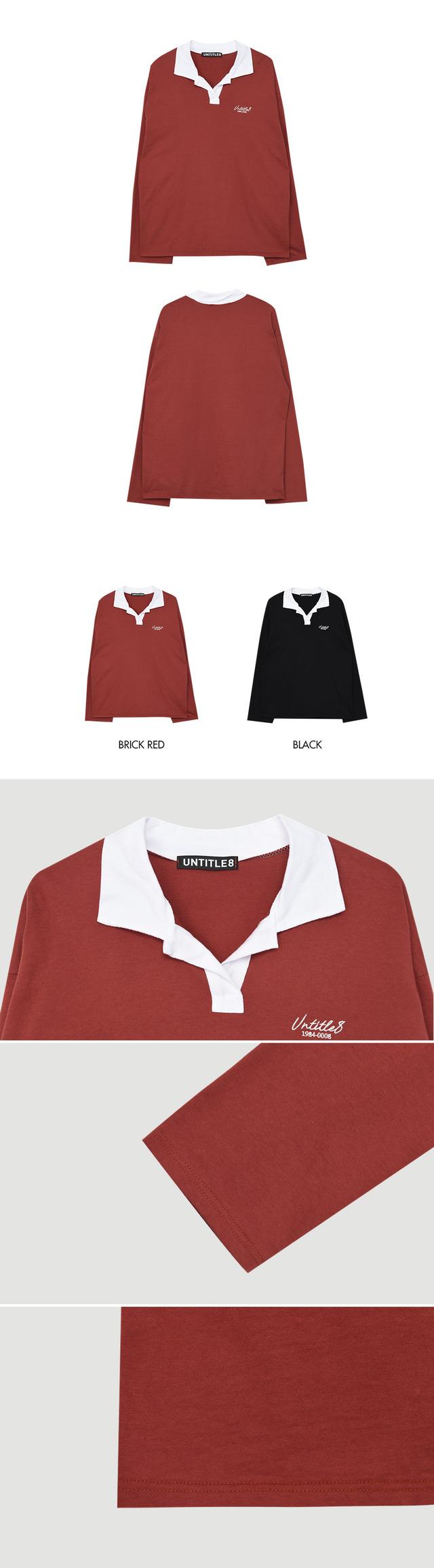 Long Simple Collar Top