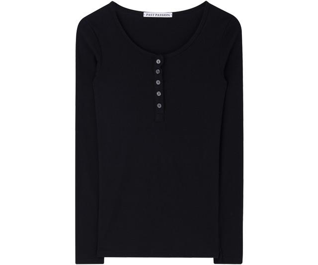 Slim Button Round T-shirt