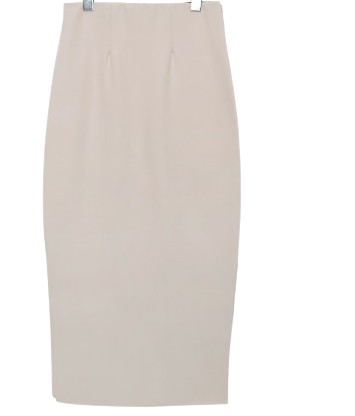 BRIGHT STRAIGHT LONG SKIRT