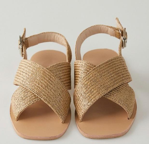 rattan cross line sandal