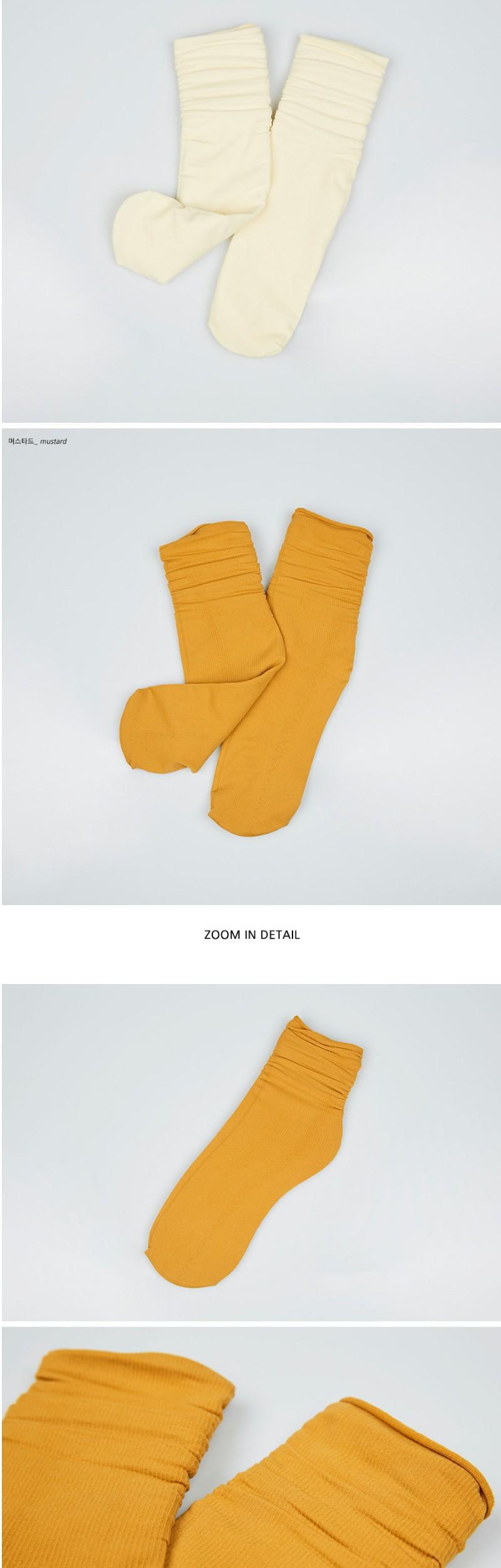 shirring ankle socks