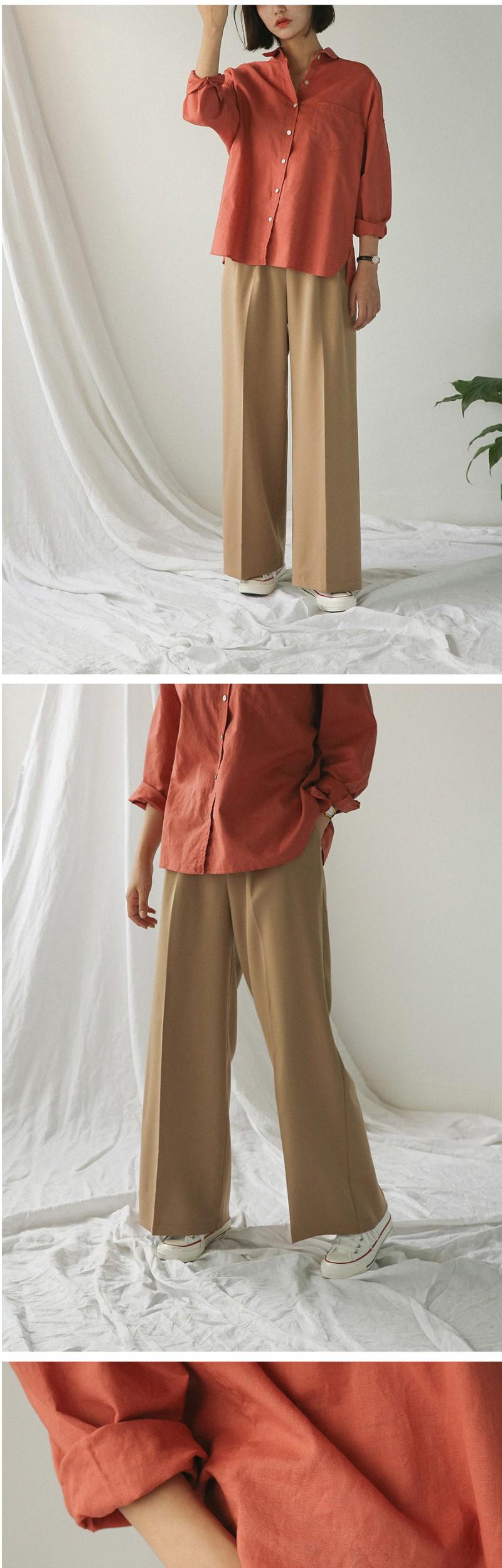 wide loose banding slacks