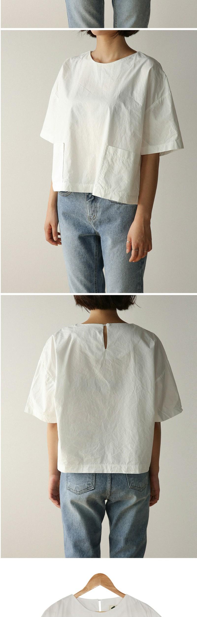 boxy fit pocket blouse