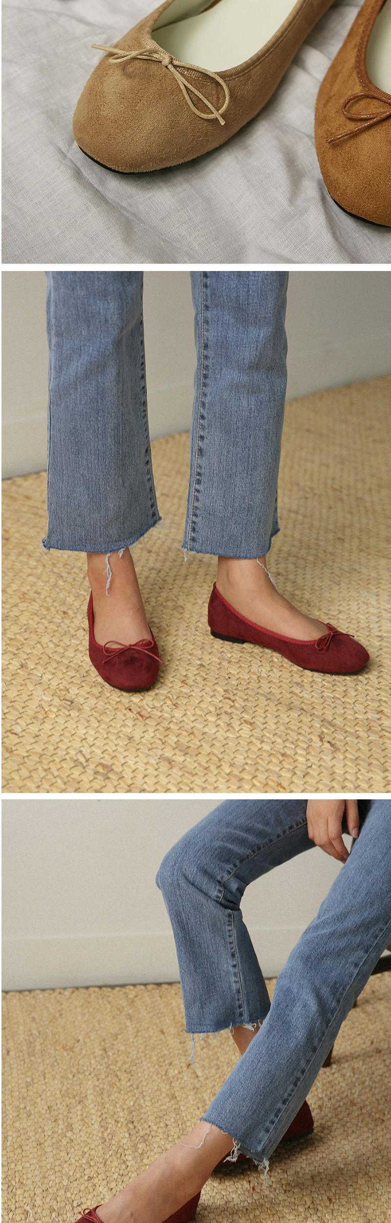 11colors ribbon flat shoes