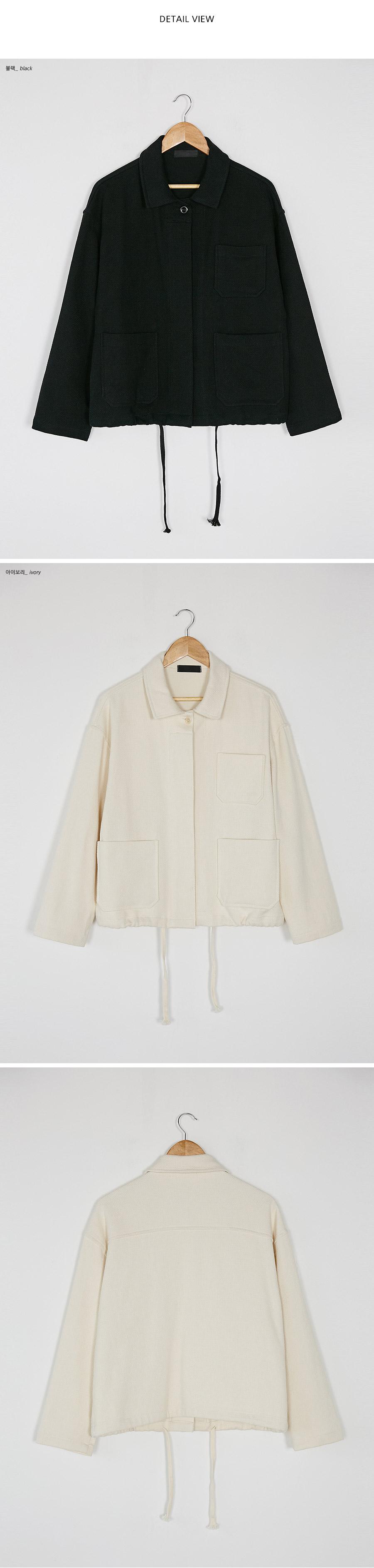 loose fit pocket jacket
