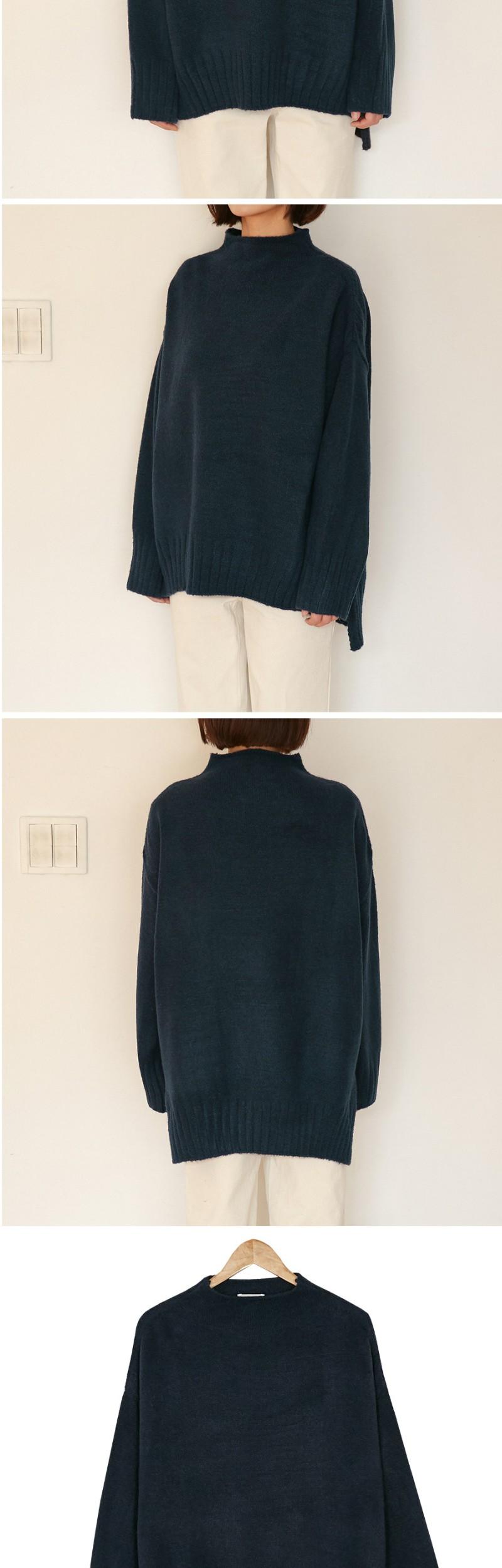 heavy unbal hemline knit