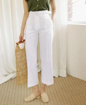 Rare high-waisted linen slacks