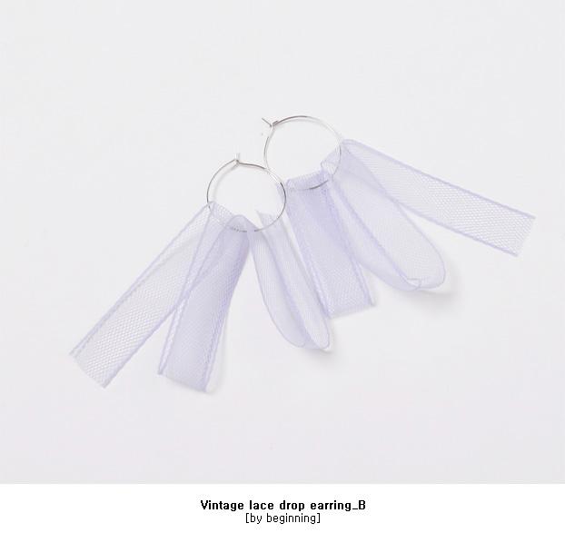 Vintage lace drop earring_B (size : one)
