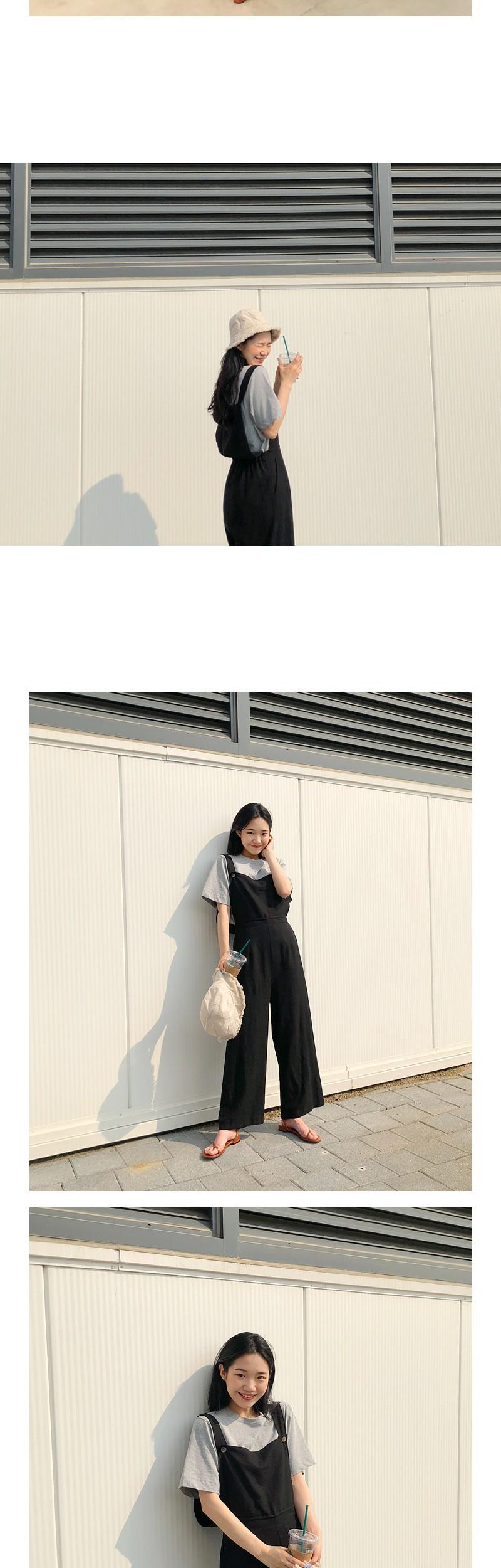 Linen banding jumpsuit_M (size : free)