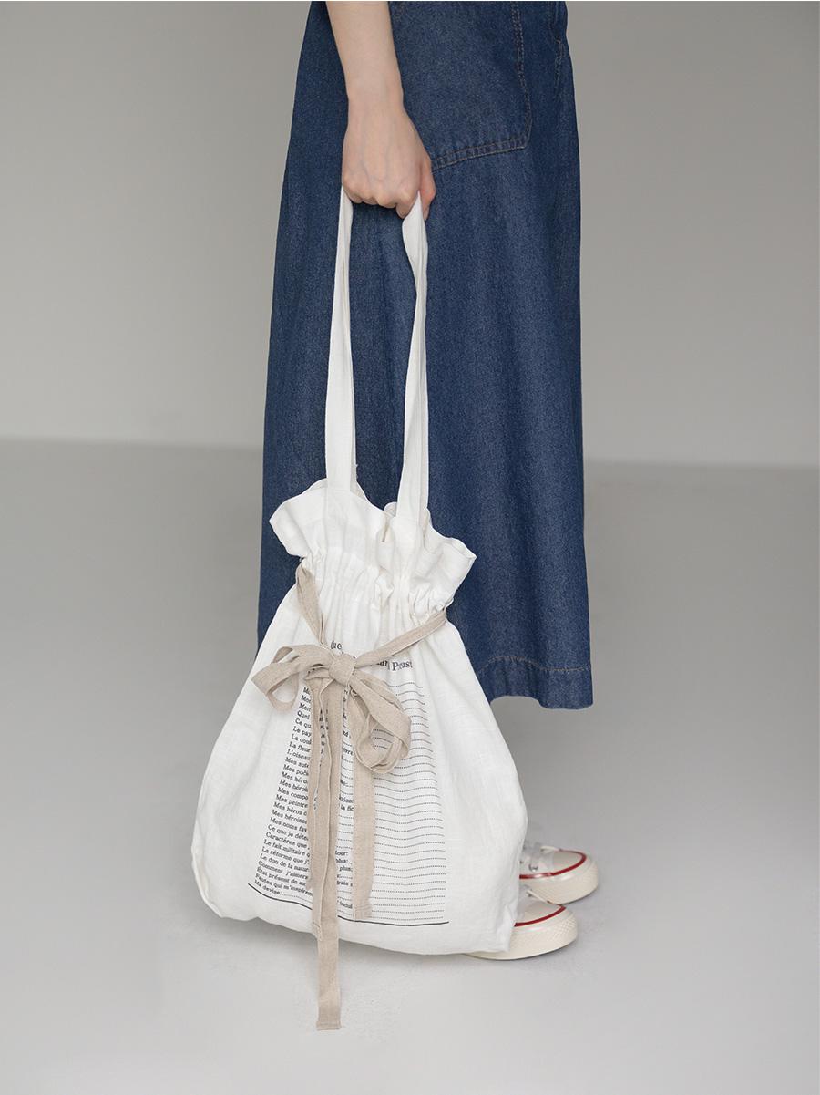 vintage strap eco bag
