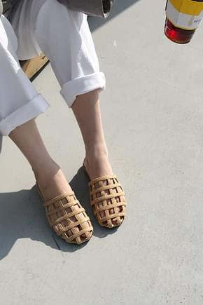 Millet Slippers Sandals-Brown 225