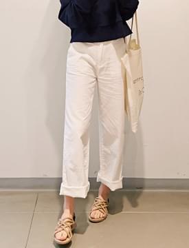 Cool pocket cotton pants_M