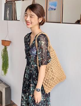 Flat net tote bag_B (size : one)
