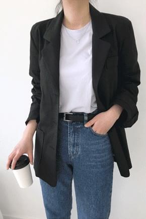 Free linen jacket - Brick ships same day