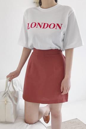 Free linen mini skirt
