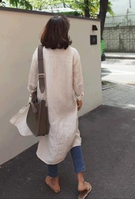 Stripe Linen Robe