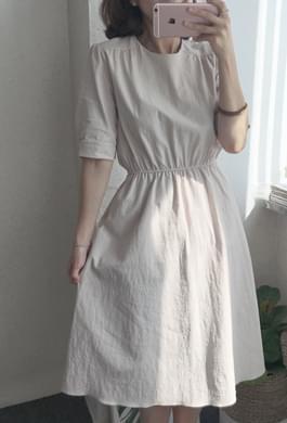 Embossed Cotton: Bending Dress