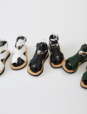 3 color cross strap sandal