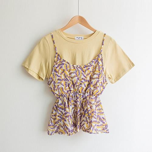 Honey Shearing Flower Tea & Bustier Set