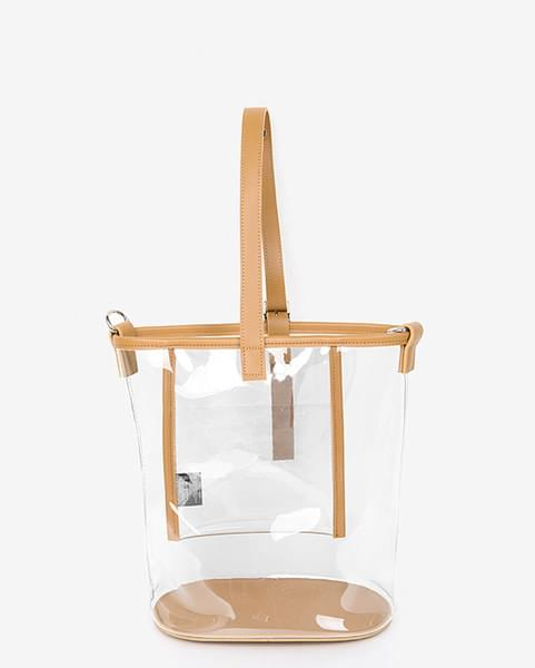 clear bucket type bag