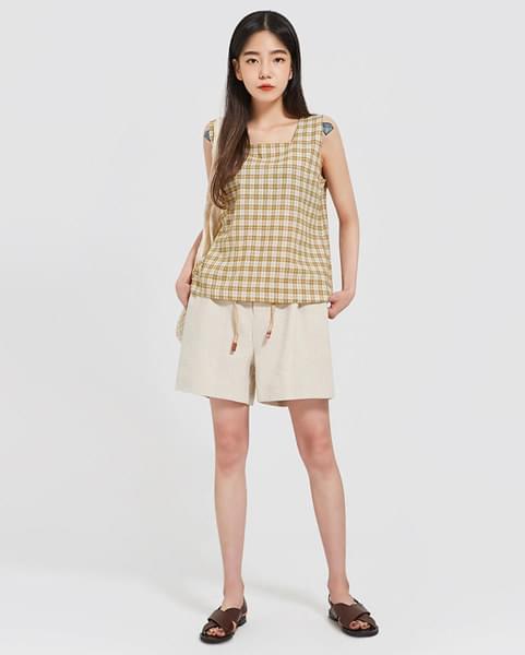 lemon check sleeveless