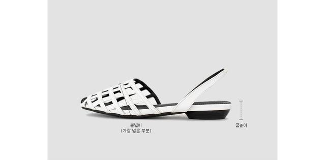 Crab Nosling Slingback Flat Shoes 1.5cm