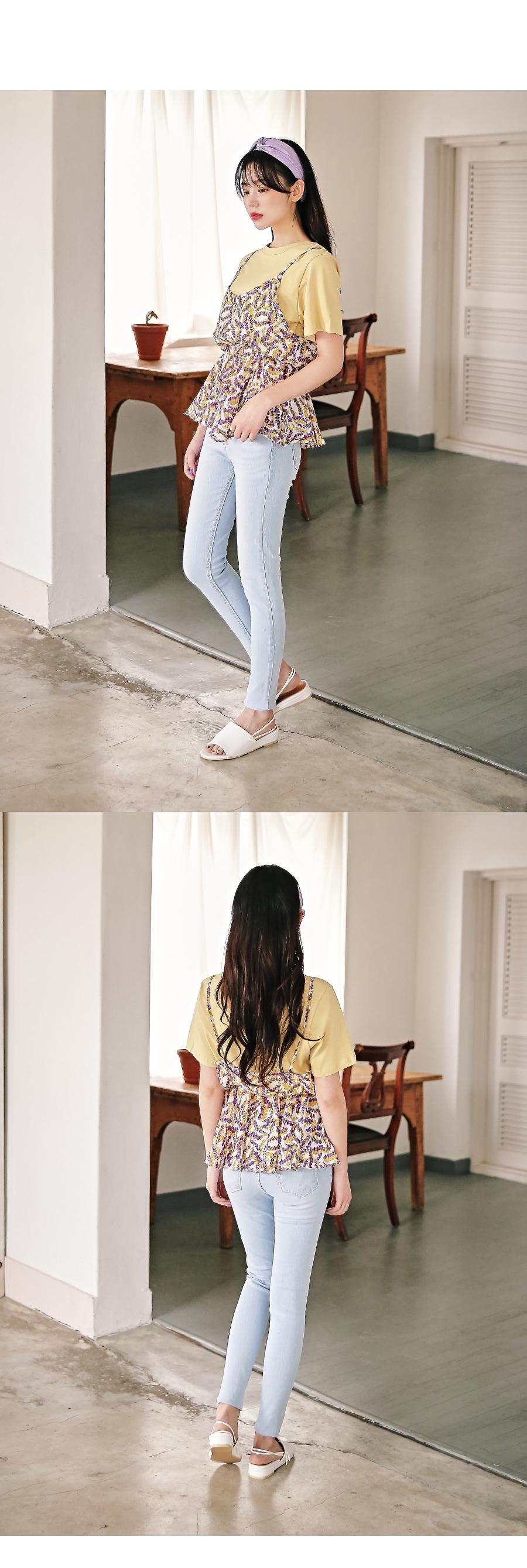 Plan strap sandals