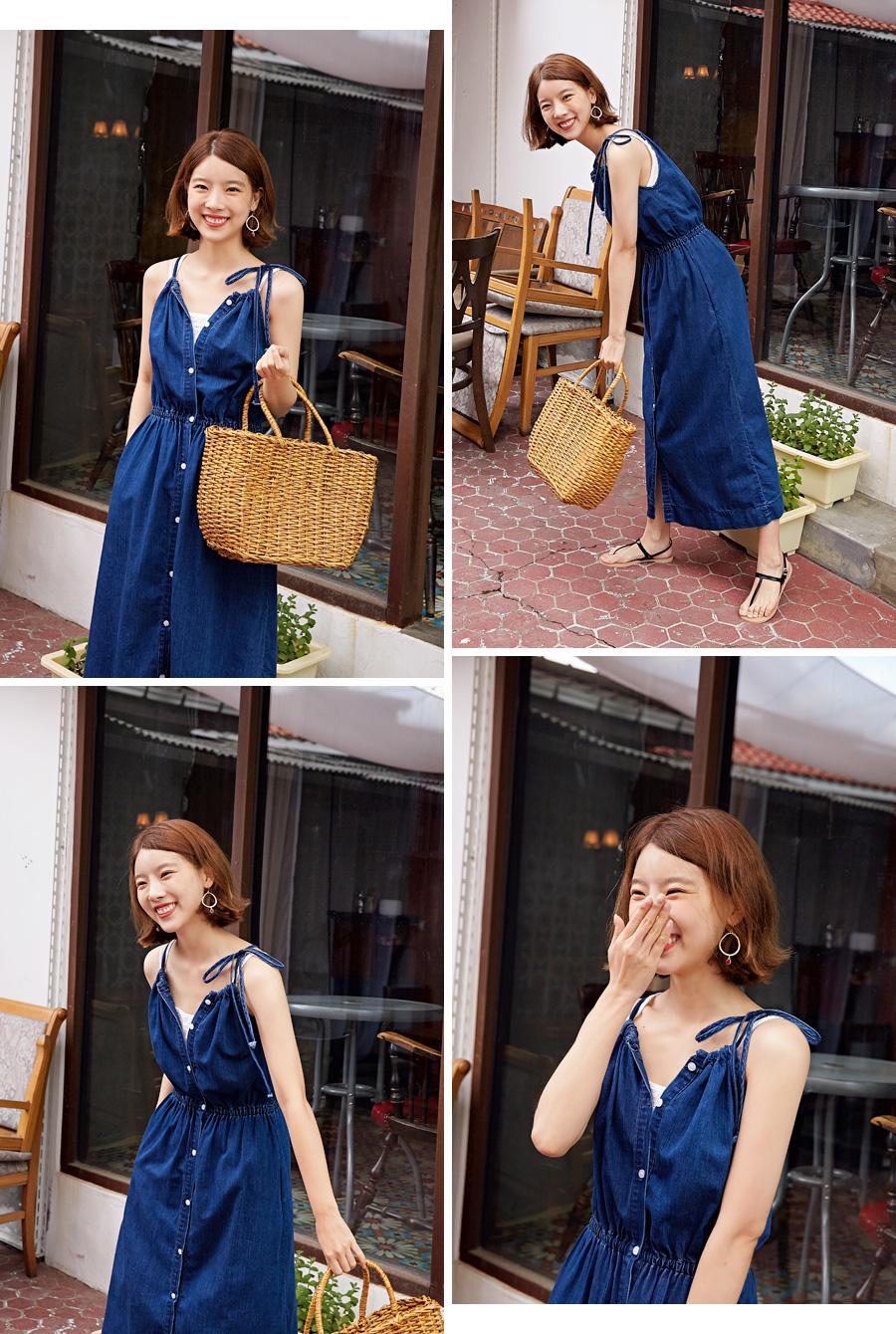Square lace cotton sleeveless_K (size : free)