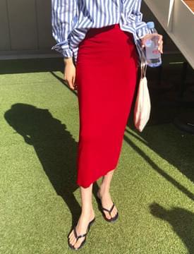 Any banding long skirt_M (size : free)