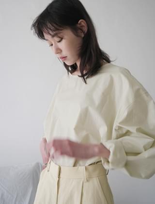 crispy texture blouse (3colors)