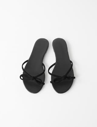 simple ribbon sandals (3colors)