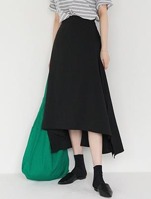 unbalance flare banding skirt