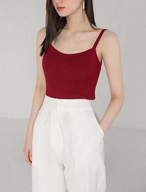 9color slim fit knit sleeveless