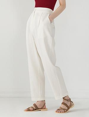 roll-up straight back banding pants
