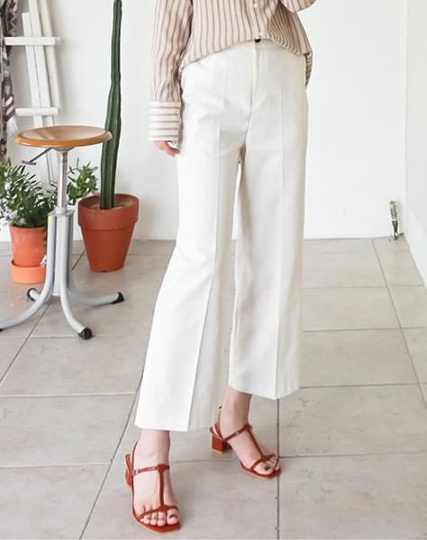 Banding linen pants