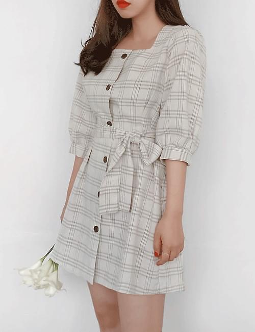 Edie Check Square Dress
