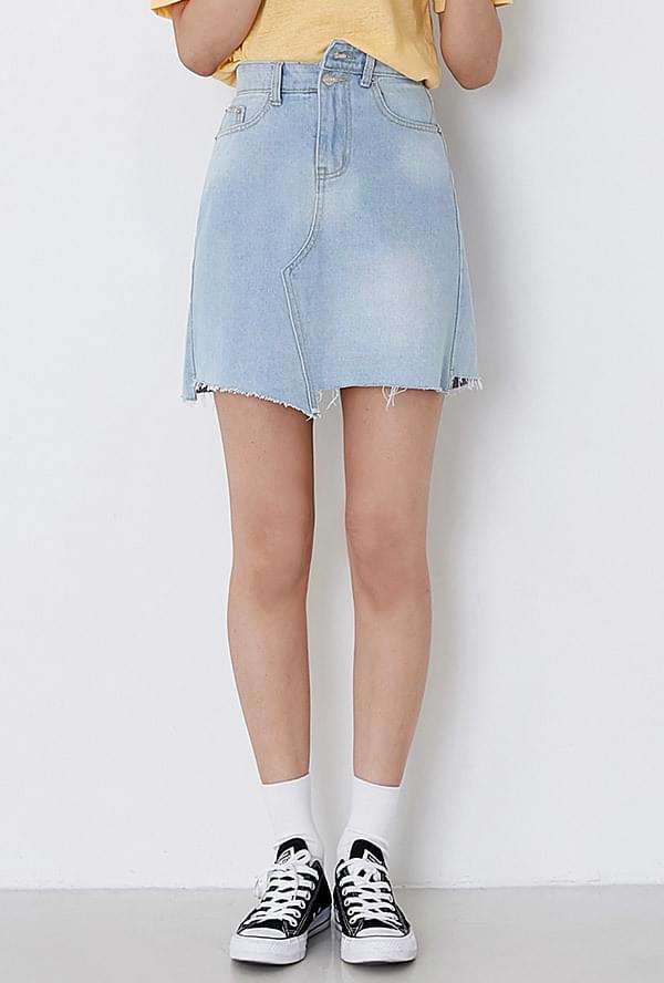 River denim skirt