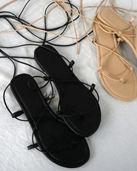 Lydia strap strap sandal ribbon