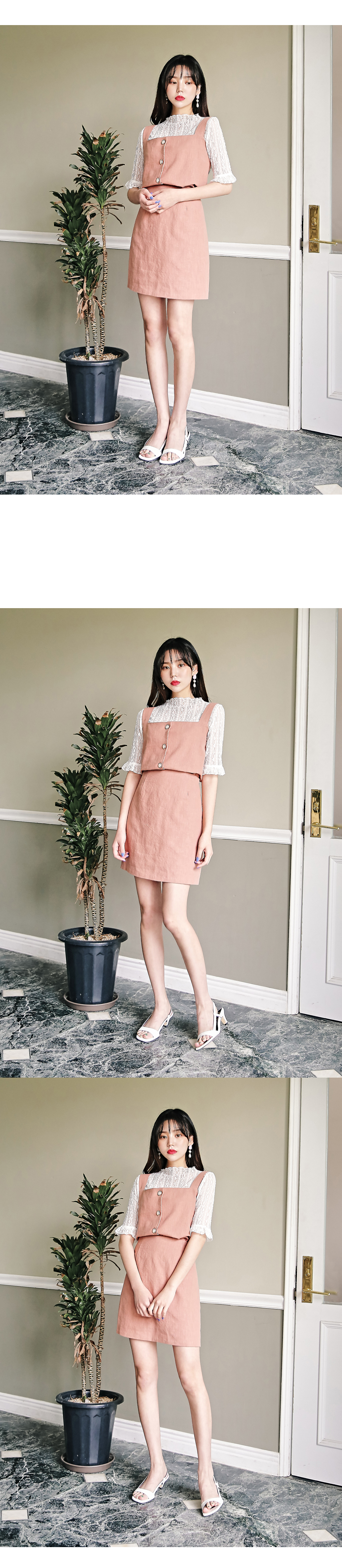 Bling linen two piece