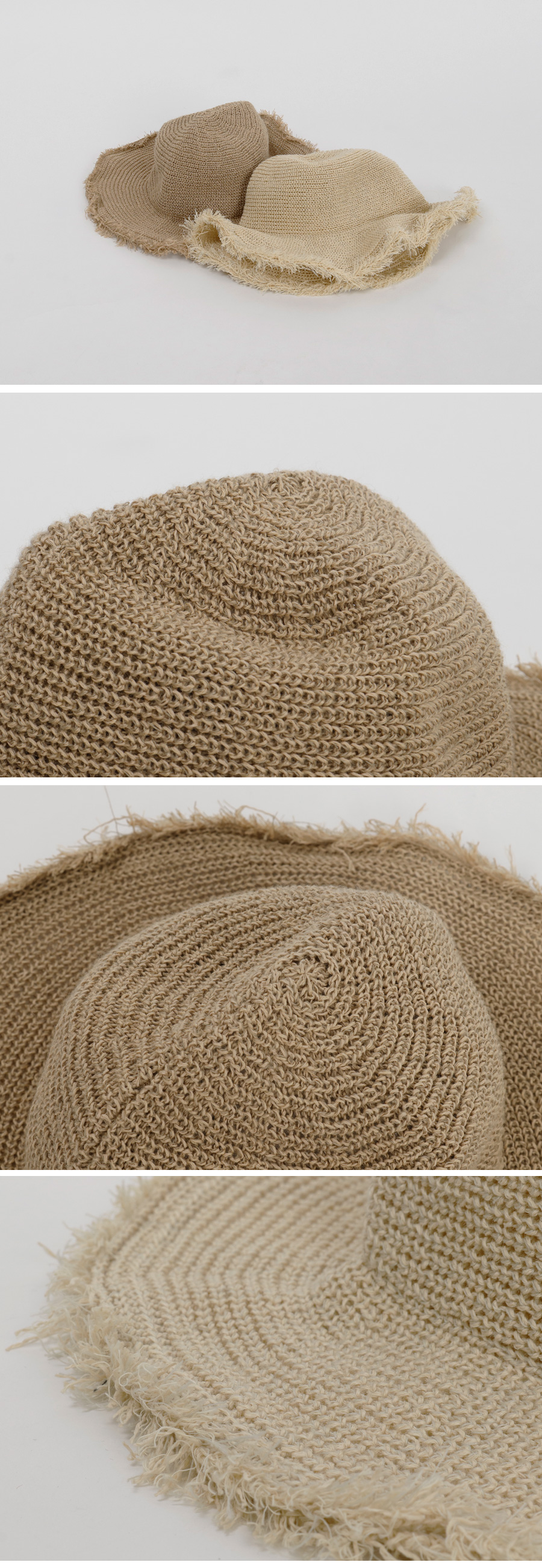 Fringe knit bucket hat_B (size : one)