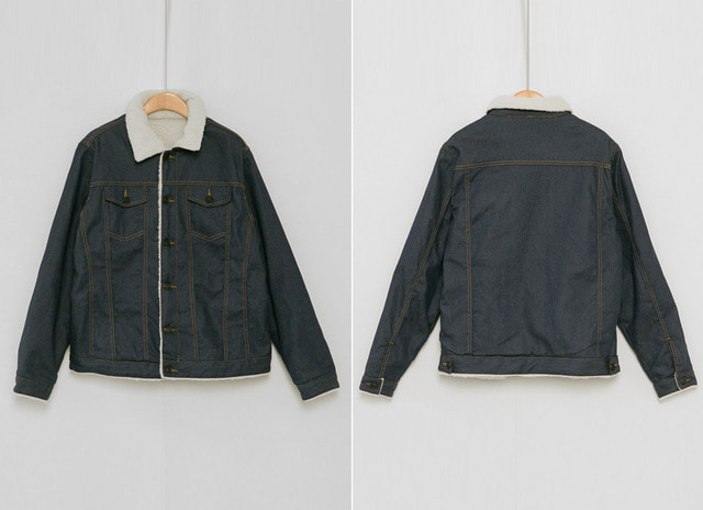 Zeppo denim fleece jacket
