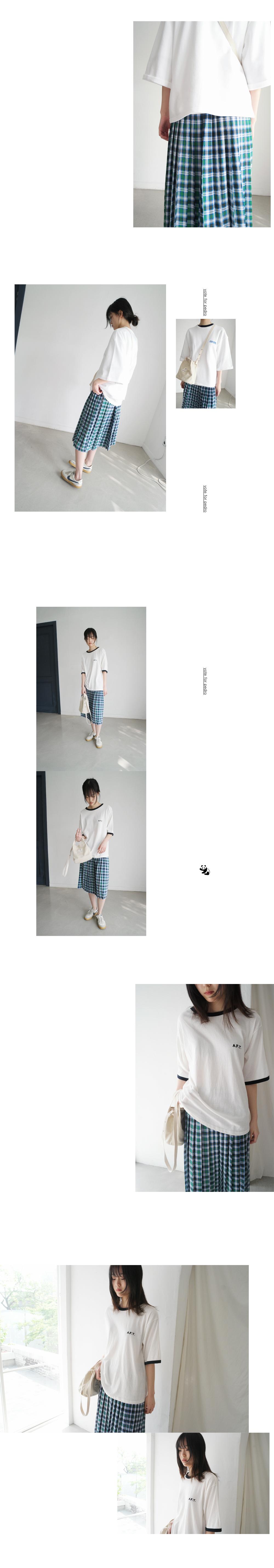 check pleats skirt (2colors)